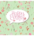 Floral greeting card with phrase Happy easter vector image vector image
