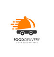 food delivery logo design vector image vector image