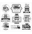 Food Truck Emblems Icons and Badges vector image