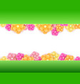 fresh spring flowers background with frame vector image vector image