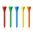 golf tees vector image vector image