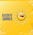 goodbye summer ccreative concept vector image
