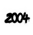 graffiti number 2004 sprayed in black over white vector image vector image