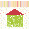 Green house floral background vector image vector image