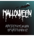 Halloween Splash Alphabet vector image vector image