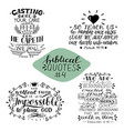 hand lettering collection number 4 with 4 bible vector image