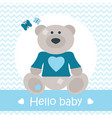 hello bacard with bear vector image vector image