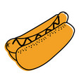 hot dog fast food unhelthy diet icon vector image