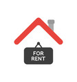 icon concept of for rent hanging sign under house vector image