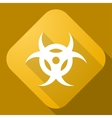 icon of Bio Hazard Sign with a long shadow vector image vector image