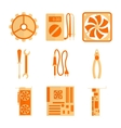 Icons set for computer repair vector image