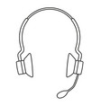 line art black and white wireless headset vector image vector image