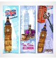 London Banner Set vector image vector image