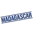 Madagascar blue square stamp vector image vector image