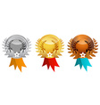 Medals Set - Awards Icons vector image
