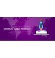minimum viable product MVP start-up rocket launch vector image vector image