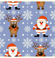 new year seamless background with funny deer and vector image vector image