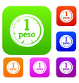 peso set color collection vector image vector image