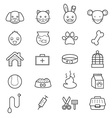 Pet Icons Line vector image
