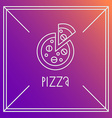 pizza design element Linear style Outline emblem vector image vector image