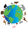 planet animals vector image