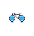 point bike logo icon design vector image vector image