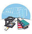 print shop tools vector image