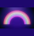 rainbow neon bright vector image vector image