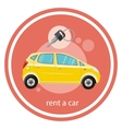 Rent a car vector image vector image