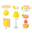 room light icon set cartoon style vector image vector image