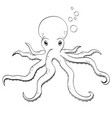sea animal octopus inhabitant of the depths of vector image vector image