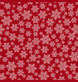 seamless christmas red pattern vector image vector image