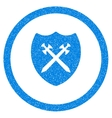 Security Shield Rounded Icon Rubber Stamp vector image vector image
