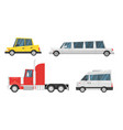set of city transport vector image