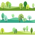 set of landscape with trees vector image vector image