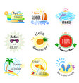 set of summer signs and banners vector image vector image