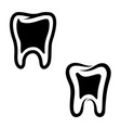 Set teeth icons isolated on white background