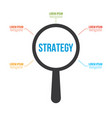 strategy word magnifying glass vector image vector image