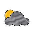 sun and cloud weather symbol vector image vector image
