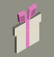 surprise gift box vector image vector image