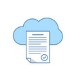 text document in the cloud storage icon cloud vector image vector image