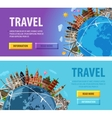 travel logo design template vacation or vector image vector image