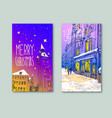 trendy cover template winter city munich german vector image vector image