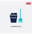 two color cleaning tools icon from cleaning vector image vector image