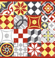 Vintage patchwork seamless pattern mosaic tile vector image vector image