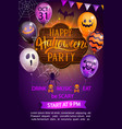 welcome flyer for happy halloween party vector image vector image