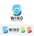 wind symbol vector image vector image