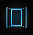 window blue icon in line style on dark vector image vector image