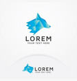 wolf logo design vector image vector image