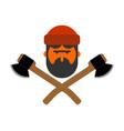 woodcutter logo lumberjack sign lumberman symbol vector image vector image